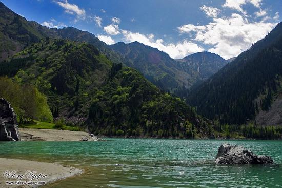 Issyk lake, Kazakhstan scenery
