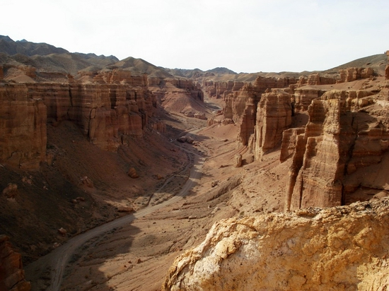Charyn canyon, Kazakhstan view 1