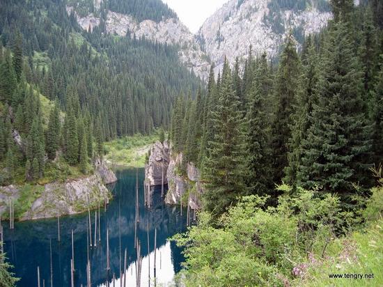 Kaindy Lake, Kazakhstan view
