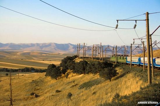Almaty - Shymkent train travel views 1