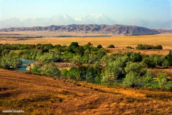 Almaty - Shymkent train travel views 10