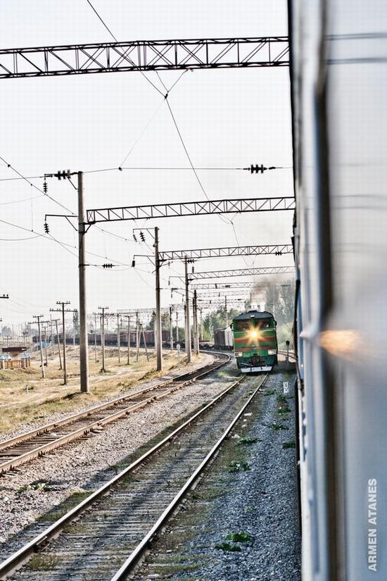 Almaty - Shymkent train travel views 4