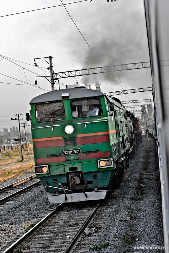 Almaty - Shymkent train travel views 5