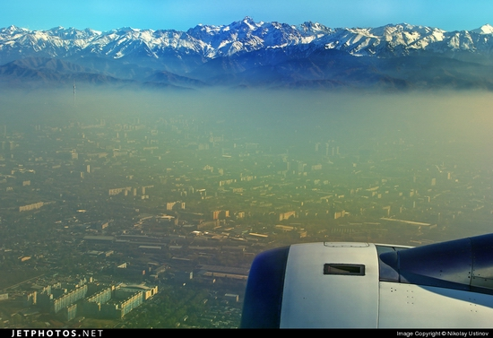 Smog over Almaty city, Kazakhstan