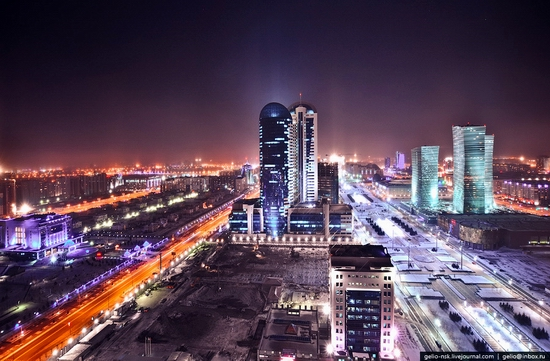 Astana city, Kazakhstan birds eye view 1