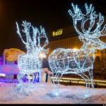 New Year decorations of Kazakhstan cities