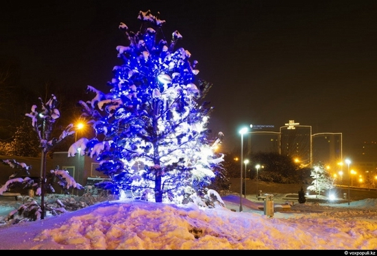 Kazakhstan cities New Year decorations view 10