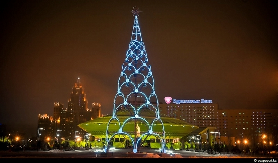 Kazakhstan cities New Year decorations view 12