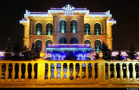 Kazakhstan cities New Year decorations view 13