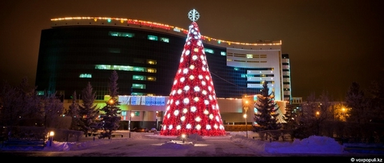 Kazakhstan cities New Year decorations view 14