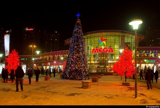 Kazakhstan cities New Year decorations view 16