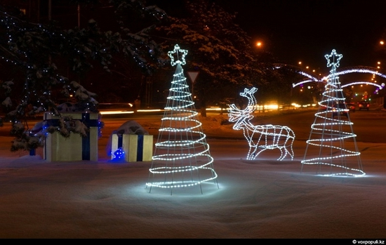 Kazakhstan cities New Year decorations view 17