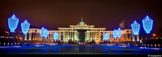 Kazakhstan cities New Year decorations view 2