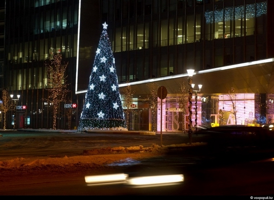 Kazakhstan cities New Year decorations view 20