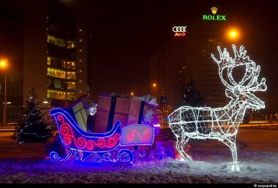 Kazakhstan cities New Year decorations view 21
