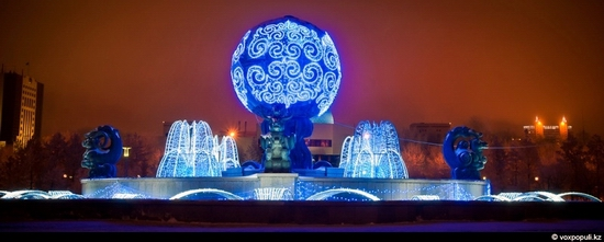 Kazakhstan cities New Year decorations view 22