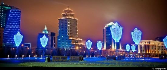 Kazakhstan cities New Year decorations view 23