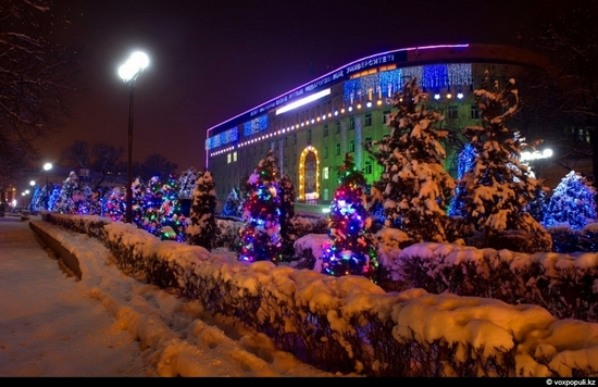 Kazakhstan cities New Year decorations view 3