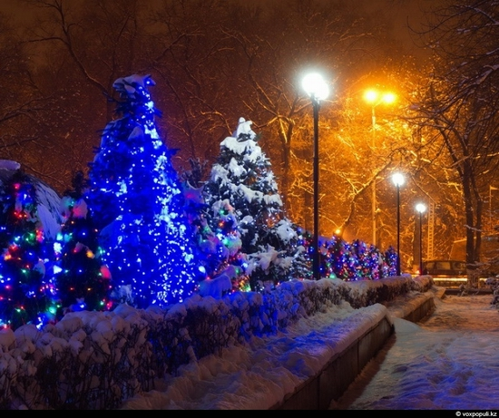 Kazakhstan cities New Year decorations view 5