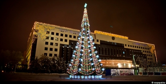 Kazakhstan cities New Year decorations view 8