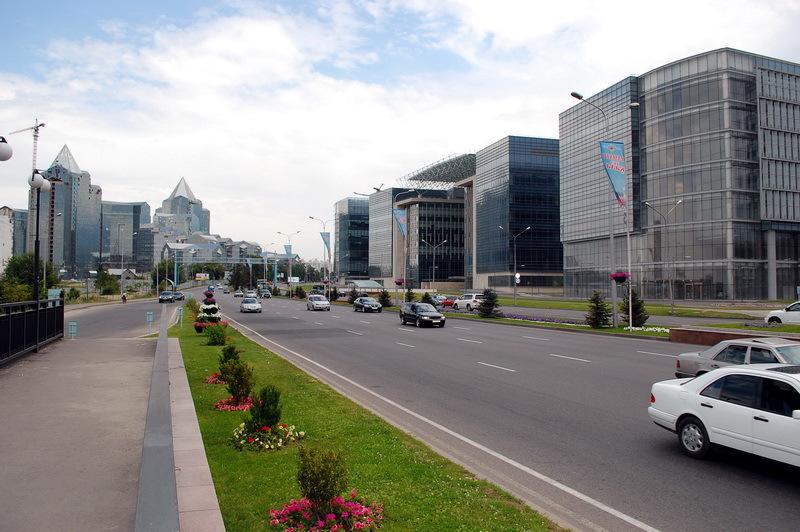 Al-Faraby avenue, Almaty, Kazakhstan view 2