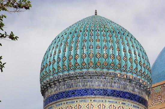 Khodzha Akhmed Yasavi mausoleum, Turkestan, Kazakhstan view 1