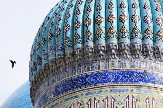 Khodzha Akhmed Yasavi mausoleum, Turkestan, Kazakhstan view 3