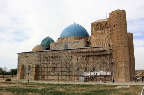 Khodzha Akhmed Yasavi mausoleum, Turkestan, Kazakhstan view 7