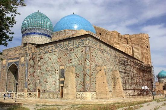 Khodzha Akhmed Yasavi mausoleum, Turkestan, Kazakhstan view 8