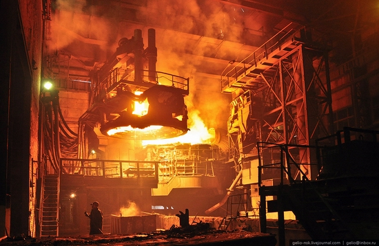 Pavlodar, Kazakhstan pipe and steel plants view 1