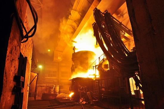 Pavlodar, Kazakhstan pipe and steel plants view 10