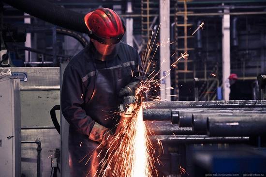 Pavlodar, Kazakhstan pipe and steel plants view 4