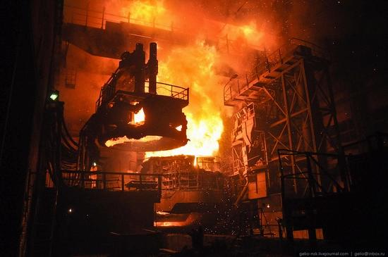 Pavlodar, Kazakhstan pipe and steel plants view 8