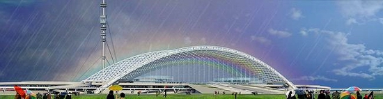 Astana new railway station project view 2