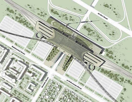 Astana new railway station project view 3