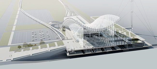 Astana new railway station project view 4