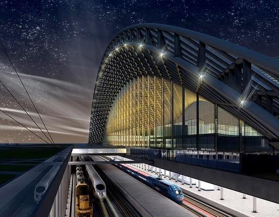 Astana new railway station project view 5