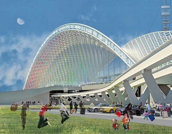 Astana new railway station project view 6