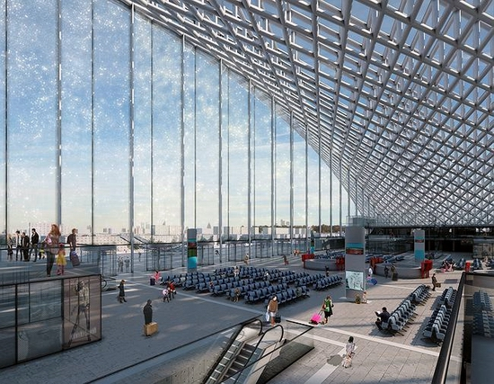 Astana new railway station project view 7