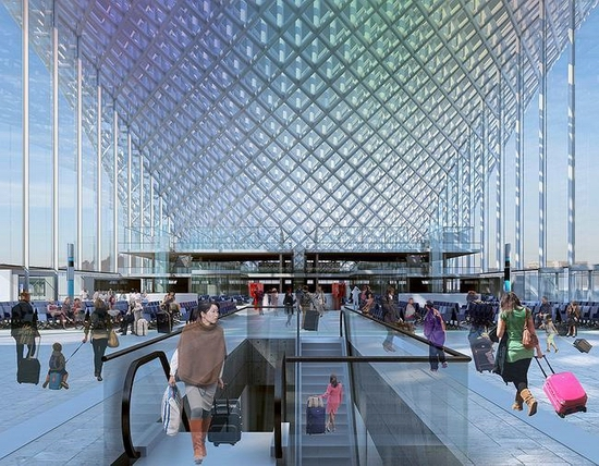 Astana new railway station project view 8
