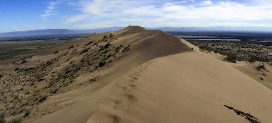 Singing Dunes, Almaty oblast, Kazakhstan view 1