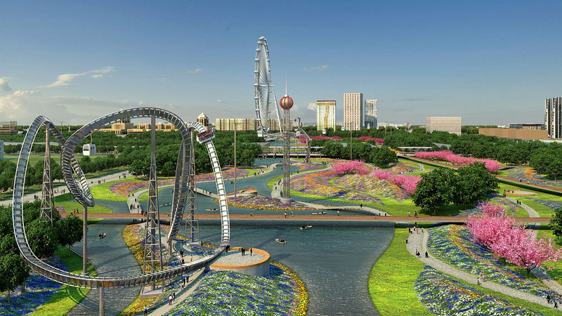 Central Park of Astana, Kazakhstan reconstruction project 1