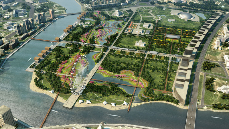 Central Park of Astana, Kazakhstan reconstruction project 4