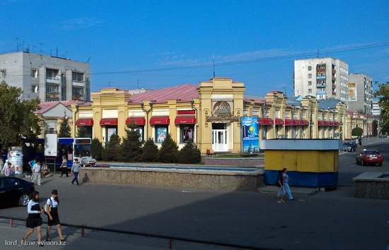 Semey city, Kazakhstan central part view