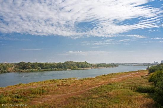 Semey city, Kazakhstan Irtysh river
