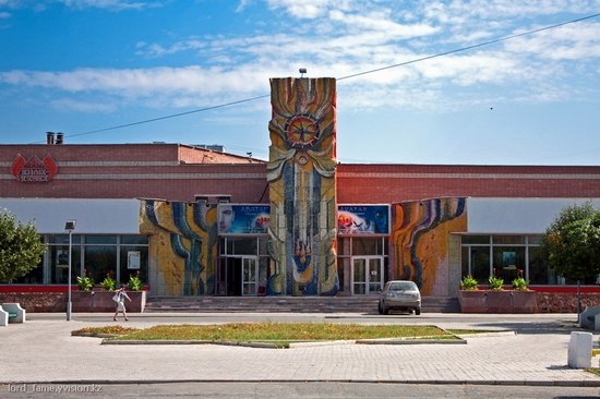 Semey city, Kazakhstan outdoor mosaic view 2