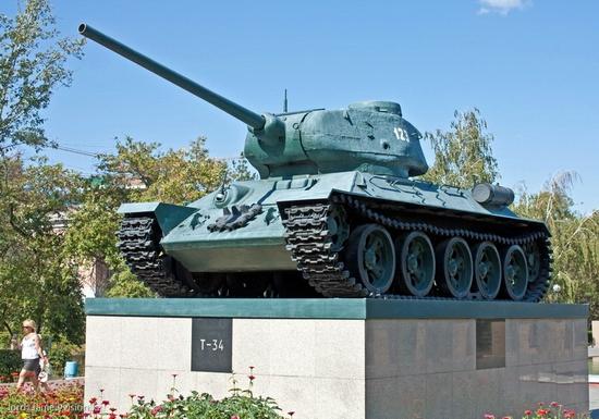 Semey city, Kazakhstan tank T-34 monument