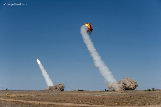 Missile firing, Sary-Shagan testing ground, Kazakhstan view 13