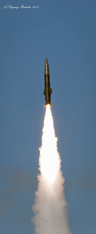 Missile firing, Sary-Shagan testing ground, Kazakhstan view 2