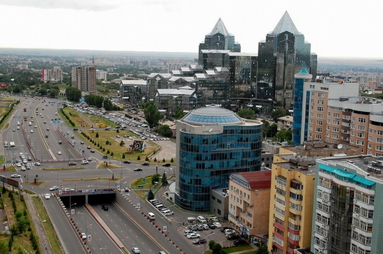 Almaty, Kazakhstan bird's eye view 2